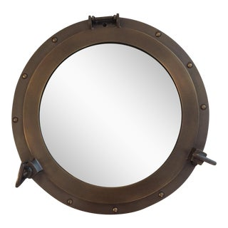 Bronze Ship Cabin Porthole Mirror