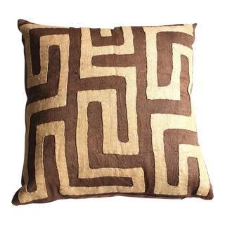 Tan Kuba Cloth Pillow