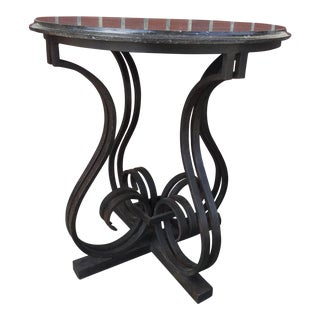 Wrought Iron Marble Table