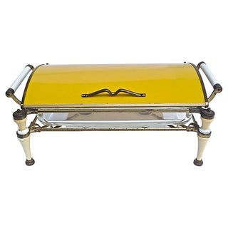 Mid-Century Modern Large Single Chafing