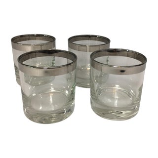Mid-Century Silver Cordial Glasses - Set of 4