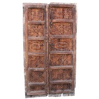Peshwari Carved Wood Door Panel