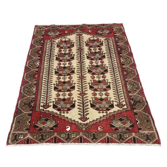 Image of Vintage Hamadan Persian Rug - 3′6″ × 5′4″