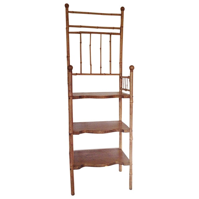 Bamboo & Wood Etagere Chair - Image 1 of 4