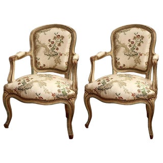 French Louis XV Armchairs- A Pair