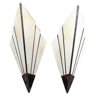 Art Deco Style Sconces - A Pair