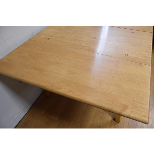 Mid-Century Maple Drop Leaf Dining Table - Image 6 of 11
