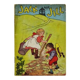 """McLoughlin Bros. """"Jack and Jill"""" Children's Linen Book"""