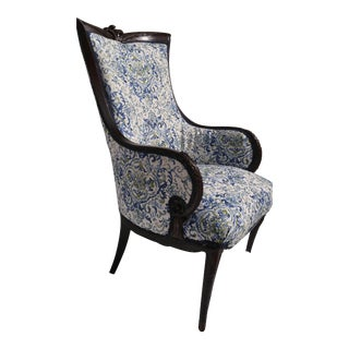 Transitional Antique Wooden Arm Chair