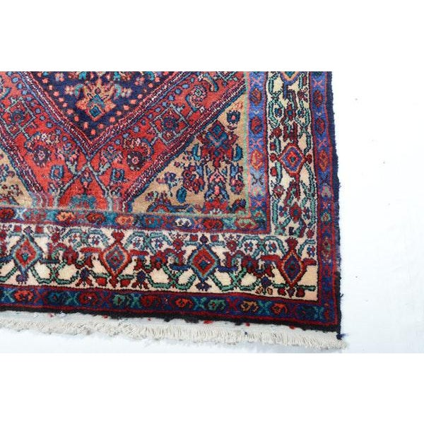 Hand Knotted Persian Mahal Runner - 3′10″ × 10′4″ - Image 7 of 11