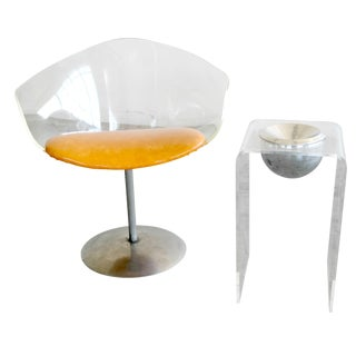 1950's Lucite Chair and Cigarette Holder