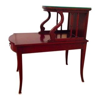 Mahogany Step Side Table
