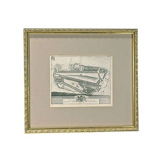 Antique St. James Palace Plan Engraving