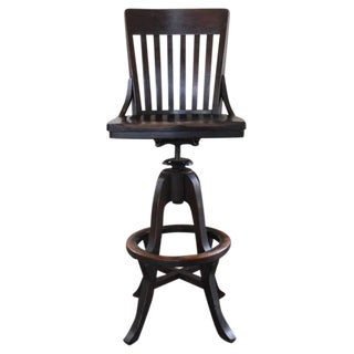 Clark & Gibby Drafting / Draftsman Stool, Wood and Metal Hardware