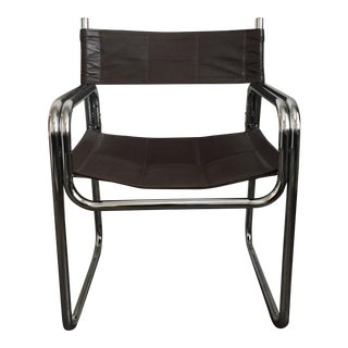 Mid-Century Leather & Chrome Chair