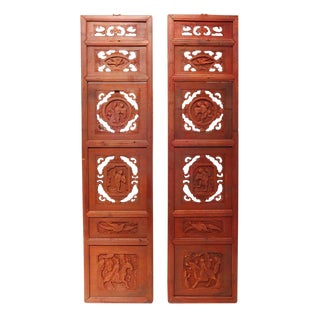 Chinese Wall Hangings/Shutters - a Pair