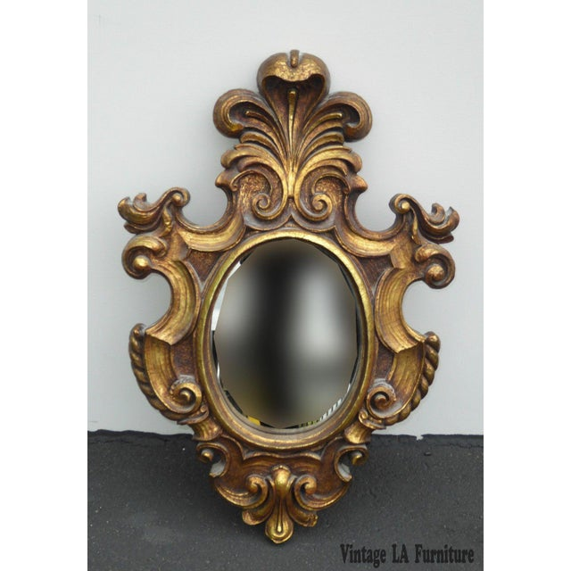 Vintage Syroco Gold Floral Wall Mirror - Image 2 of 11