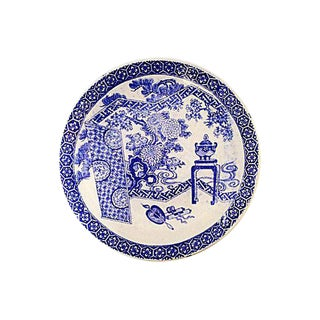 Japanese Imari Blue and White Charger, 19th Century