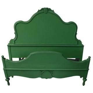 Vintage Full Bedframe in Kelly Green