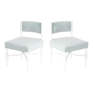 Pair of Tommi Parzinger Petite Slipper or Vanity Chairs
