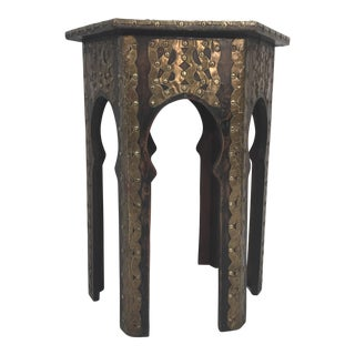 Moroccan Hammered Brass Table