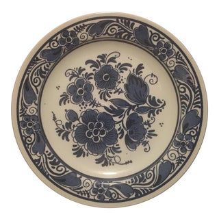 Distel (Blauw Delft) Blue Delft Handpainted Plate - Made in Holland