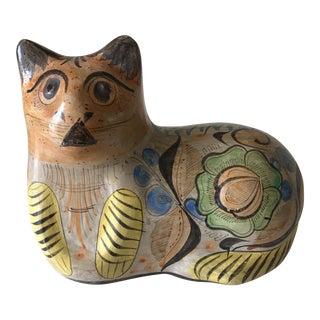 Mid-Century Handmade Pottery Cat