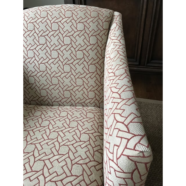 Geometric Pattern Swivel Club Chair - Image 4 of 5