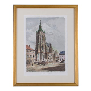 St. Vitus Cathedral at Prague Castle Hand-Colored Print