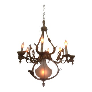 Antique Bronze Artisan Chandelier