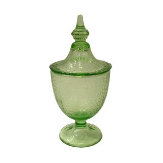 1930s Vintage Imperial Glass Pedestal Compote