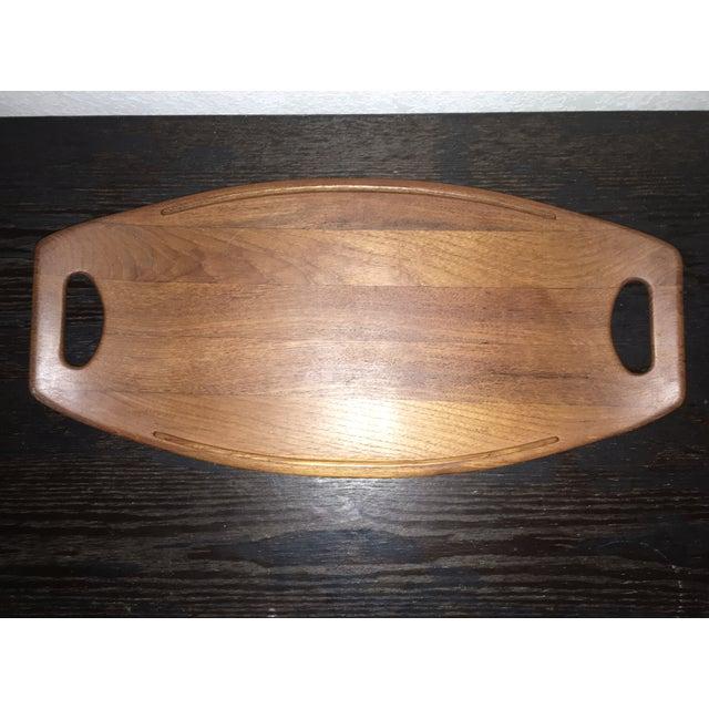 Image of Mid- Century Modern Dansk Teak Surfboard Tray