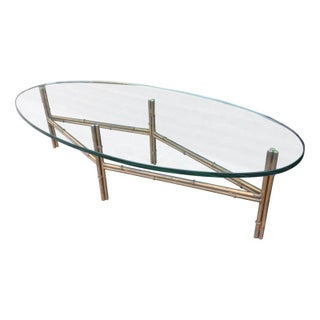 Metal Faux Bamboo Coffee Table