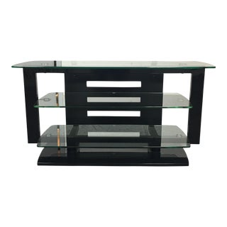 BDI Furniture Black & Tempered Glass Media Stand