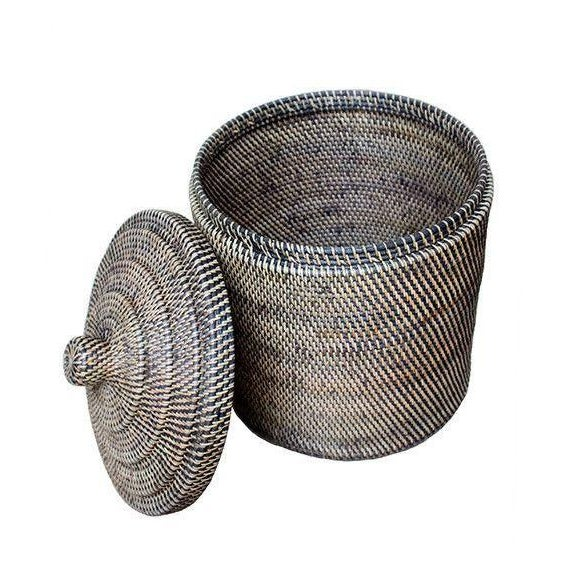 Rattan Basket With Top - Image 2 of 3