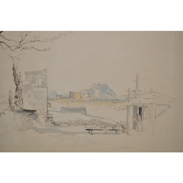 Victor Tischler French Village Watercolor Painting - Image 3 of 5