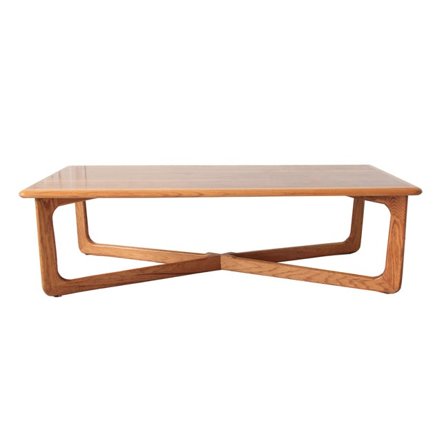 Lane Sculpted X Base Coffee Table Chairish