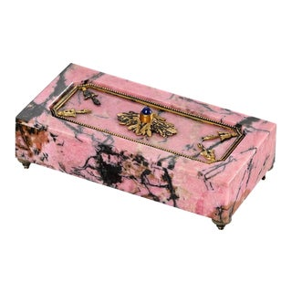 Faberge Rhodonite Bell Push
