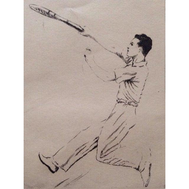 1930's Tennis Etchings Helen Moody Wills - A Pair - Image 5 of 6