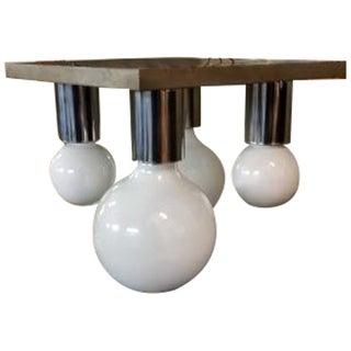 Chrome Lightolier Modernist Ceiling Light