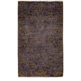 "New Suzani, Hand Knotted Area Rug - 3'2"" X 5'3"""
