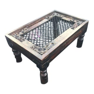 Antique Coffee Table-Mughal Inspired Indian Furniture