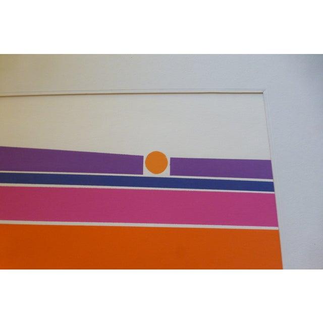 """Orange Landscape"" a Mod Print by Calvin Libby - Image 4 of 8"