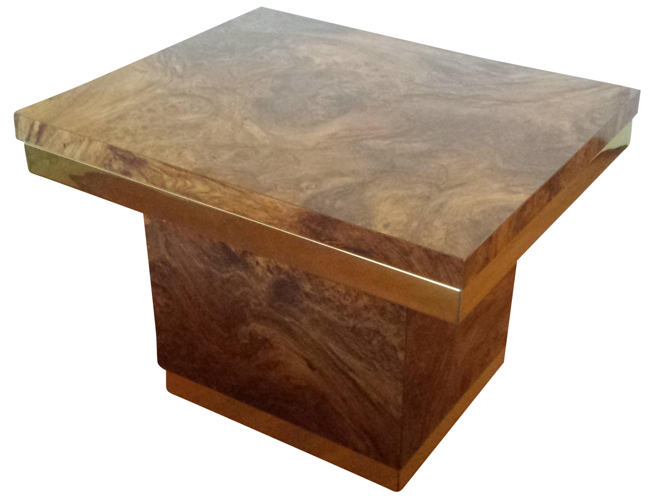 Charming Pierre Cardin Style Burled Wood Side Table