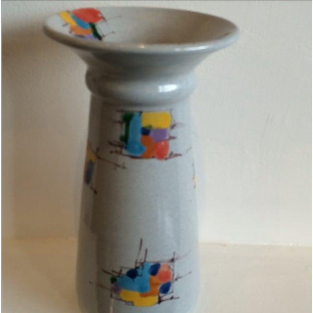 Deruta Italian Pottery Tall Vase - Image 3 of 8