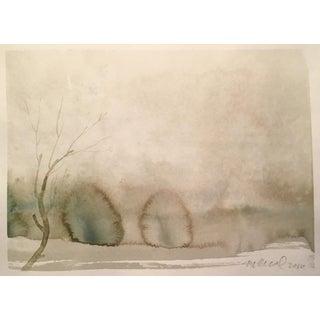 """Winter Plane"" Painting"