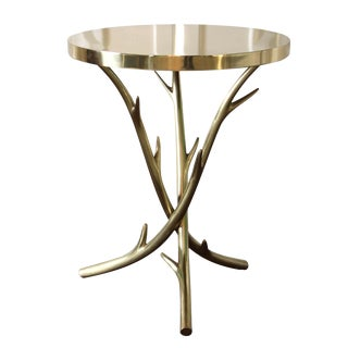 Polished Brass Dasher Side Table
