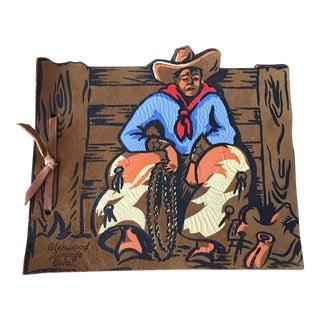 Vintage Souvenir Cowboy Leather Photo Album