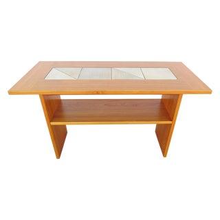 Gangso Mobler Denmark Teak & Tile Sofa Table