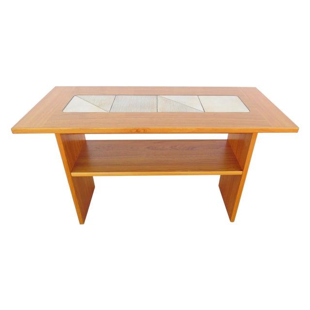 Gangso Mobler Denmark Teak amp Tile Sofa Table Chairish